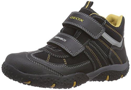 Geox J BALTIC B. WP C Jungen Sneakers Schwarz (C0620BLACK/OCHREYELLOW)