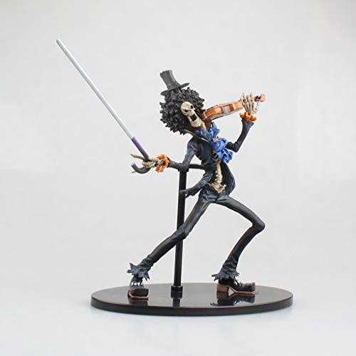 JSFQ SG Brook, Anime One Piece Modell, Kinderspielzeug Sammlung Statue, Desktop Dekoration Spielzeug Statue Spielzeug Modell PVC (19 cm) -