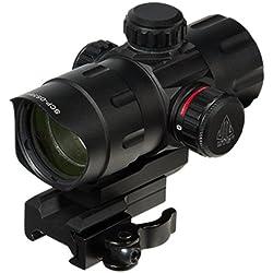 UTG SCP-DS3840TDQ Ordinateur de Poche avec Support QD pour Adulte 4,2 cm (Rouge/Vert) avec visière Lumineuse Riser Adaptor Noir Taille Unique