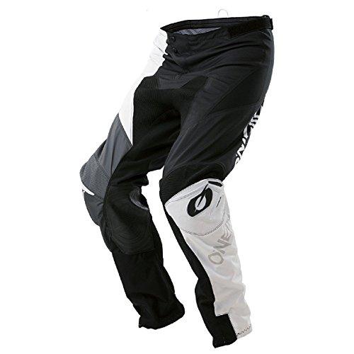 O'Neal Mayhem Lite Split MX Motocross Hose Pant Enduro Offroad Motorrad Quad Cross Ledereinsatz, 0130A, Farbe Grau, Größe 38 (Off-road Motorrad-hose)