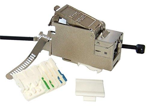 Preisvergleich Produktbild Setec XAKJ Keystone Jack geschirmt Cat6A, mit Schirmband, 5 Stück, 501415A