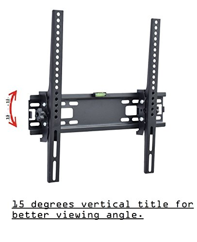"Gadget-Wagon Tilting Wall Mount Stand 15 degrees for 32"" to 65"" LCD & LED Monitor/TV"