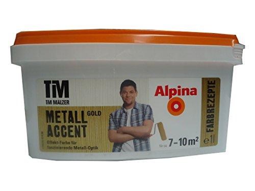 Alpina Tim Maelzer Farbrezepte Metall Accent Gold 1 l