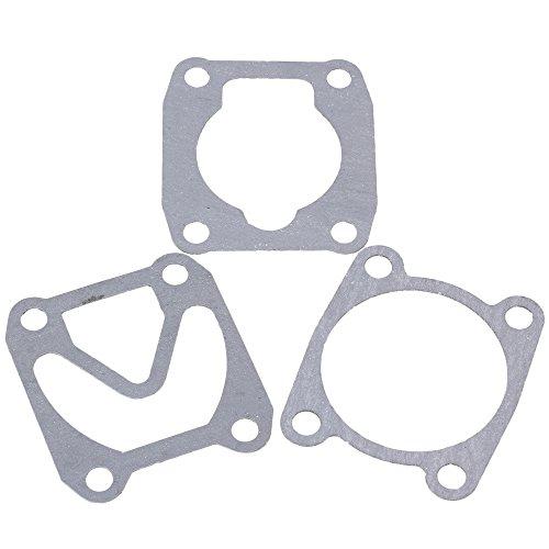 WEONE gris Ingeniería de Plásticos Papel del compresor de aire del cilindro de cabeza de válvula Base placa de sellado Juntas (paquete de 3)
