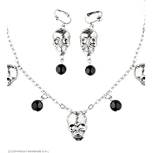 9d8f8275732f WIDMANN 05730 – Parure Collar y Pendientes con calaveras