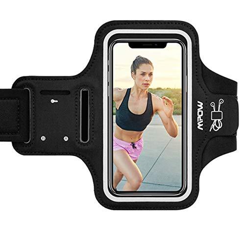 Mpow Sportarmband Handy für iPhone 11 Pro Max/XS Max/XR/ 8 Plus/7 Plus Samsung S9 Plus【Bis zu 6, 5 Zoll】, Schweißfest Sportarmband mit Reflektivband, Kopfhörer-Slot Key Slot, für Jogging, Radfahren