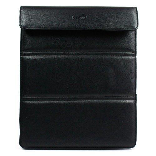 Kroo Wickeltasche für iPad mit Einer Bildschirmdiagonale von 22,9 cm (9 Zoll), Schwarz