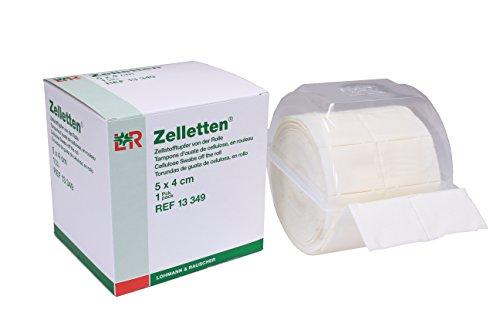 300 Zelletten / Zellstoffpads / Zellstofftupfer im praktischen Spender (Pinsel-spender Nail)