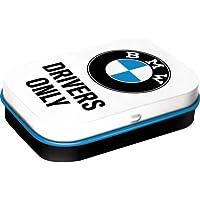 Nostalgic-Art 81344 BMW - Drivers Only White   Pillen-Dose   Bonbon-Box   Metall   mit Pfefferminz-Dragees