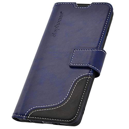 elephones® Handyhülle für Samsung Galaxy S10 Plus Hülle - Kompatibel mit Galaxy S10 Plus (S10+) Handy-Tasche Schutzhülle Flip Case Blau Schutzhülle Flip Case