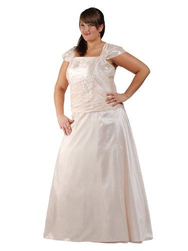 Austen – 1050 INES Brautkleid 2tlg Cremeweiß Gr.50 (5XL)
