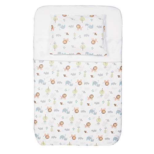 Chicco Parure con Copripiumino, 3 Pezzi, Little Animals, Multicolore