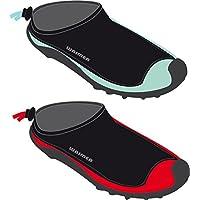 Schreuders sport per bambini Waimea Aqua scarpe, in neoprene, Bambino, Waimea, Black/Mint Green, 34
