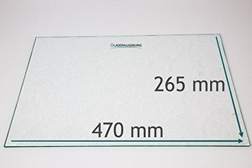 Kühlschrank Einlegeboden/Glasplatte / Gemüsefach – Strukturglas 4 mm dick – 470 mm x 265 mm - Direkt vom Glasereifachbetrieb!!!