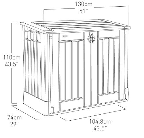 Keter 17197253 Aufbewahrungsbox Woodland, Kunststoff, Beige/Light Maroon - 10
