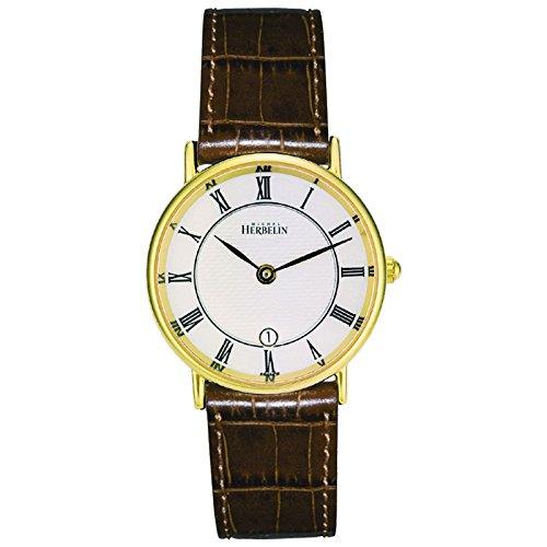 Michel Herbelin Classic Women's Watch brown/gold/silver 16845/P08GO