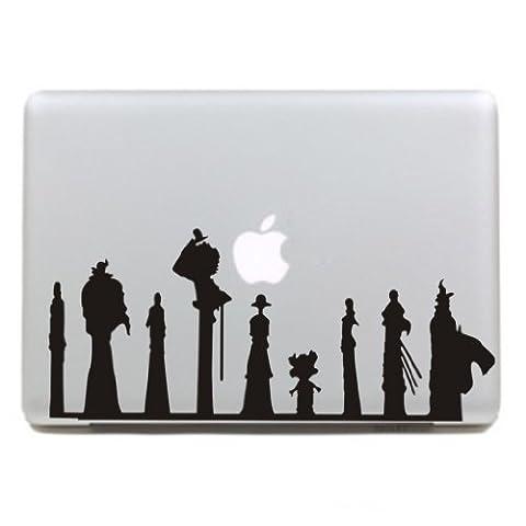 """MacBook Aufkleber, Chickwin Creative Pattern dekorativ Film Notebook Sticker Skin personalisierte Aufkleber MacBook Pro Air 13"""" Decal (Neun Fußgänger)"""