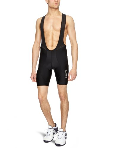 Craft Herren Trägerhose Active Bike Bib Pants, Black, L, 1900029N-1999 (Bike Active Bib)