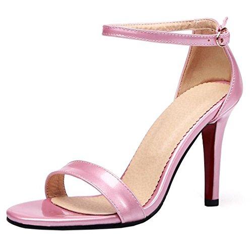 Zanpa Donna Mode Strap Sandali Alla Caviglia 1#Pink