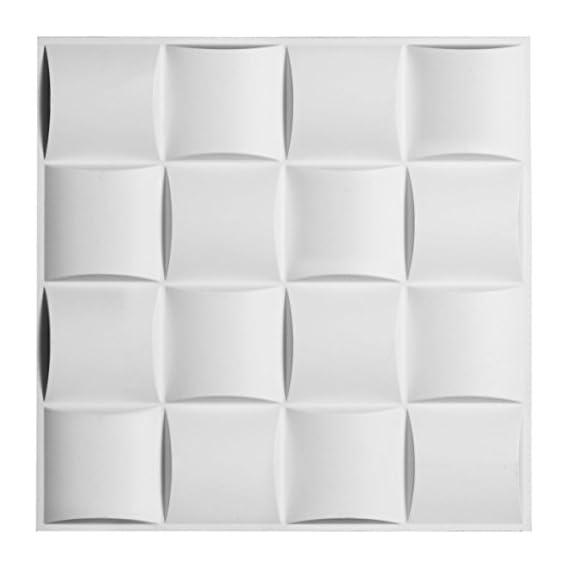 Ekena Millwork Baile Endura Decorative 3D Wall Panel (PVC, 19 5/8x 19 5/8-inch, White)