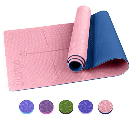 Dustgo Yogamatte Gymnastikmatte Yoga Matte rutschfest Sportmatte für Fitness Pilates & Gymnastik mit Tragegurt Maße 183cm Länge 61cm Breite 5 Farben
