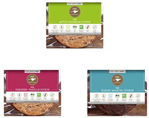 Preisvergleich Produktbild COOKIE VARIETY BOX von eat Performance (3 x 40g) / / Bio / Paleo / ohne Zuckerzusatz / glutenfrei / laktosefrei / low carb / eiweißreich / superfood / clean eating