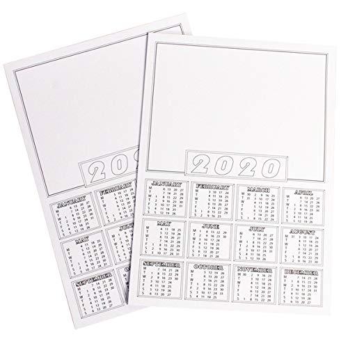 202020-Kalenderplaner/Terminplaner/Terminplaner/Terminplaner/Terminplaner/Terminplaner/Terminkalender/Terminkalender/Terminplaner/UK-A4 blanko, Weiß, 10 Stück