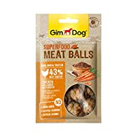 GimDog Superfood Meat Balls Chicken With Carrot And Flaxseed for Dogs, 70 gm