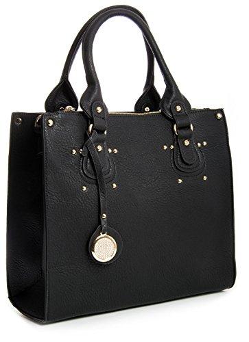 Big Handbag Shop, Borsa a mano donna One Nero (nero)