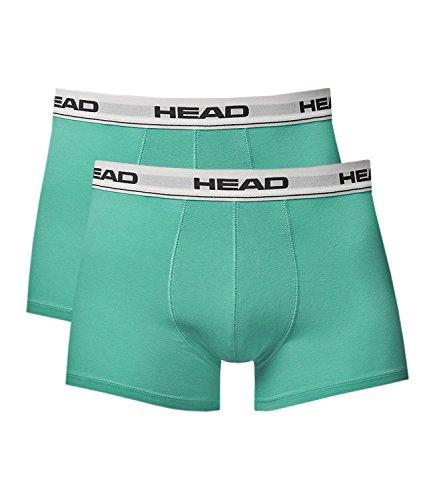 HEAD Herren Boxer Shorts Basic 2er Pack Sea Green