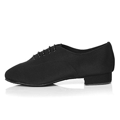 Hipposeus Homme Salle De Bal Chaussures De Danse / Chaussures Ballroom / Latin Chaussures De Danse En Cuir Standard, Modèle-itaf10 Black-6