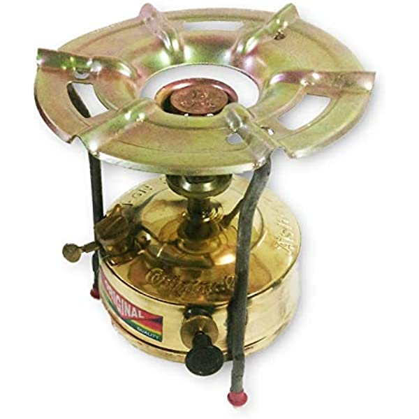 Estufa de presión de queroseno de latón que acampa al aire ...