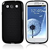 SOOPER Black Defender Heavy Duty Protective Hard Full Body Cover Case for Samsung Galaxy i9300 S3 + Free Screen Protector (Black)