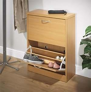 safield commode 2 tiroirs pour ranger 18 paires de chaussures cuisine maison. Black Bedroom Furniture Sets. Home Design Ideas