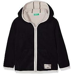 United Colors of Benetton Jacket W/Hood L/s, Chaqueta para Niños, Negro (Black 100), 110 (Talla del Fabricante: X-Small)