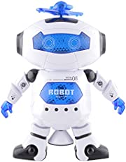 Tickles White Naughty Dancing Robot LED Light and Music Toy 22 cm AT-ET014