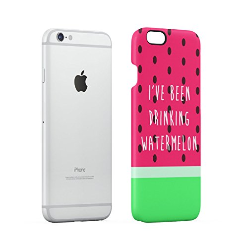 Watermelon Kawaii Face Apple iPhone 6 , iPhone 6S Snap-On Hard Plastic Protective Shell Case Cover Custodia Drinking Watermelon