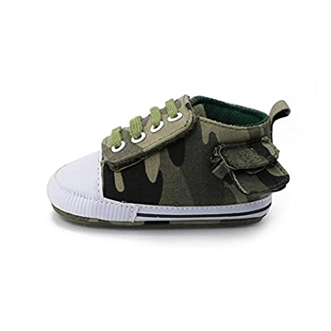IGEMY Newborn Toddler Baby Infant Boys Girls Camouflag Anti-slip Shoes Canvas Sneakers (UK:2/Age:6~12M,