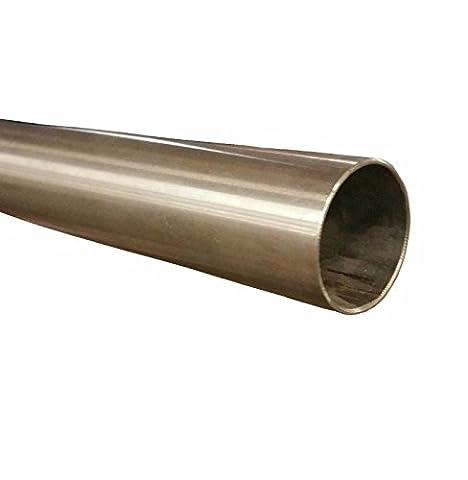 'Tube Acier Inox Diamètre 63,5mm x 1000mm (1m) Tuyau d'échappement