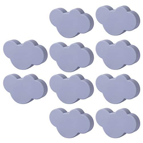 GODNECE 10er Set Möbelknöpfe Kinderzimmer Set Schubladenknöpfe Möbelknäufe Kinderzimmer Klein Wolkenform (Grau)