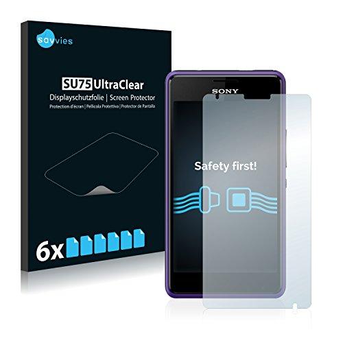 Savvies Schutzfolie für Sony Xperia E1 D2004  D2005 [6er Pack] - klarer Bildschirmschutz