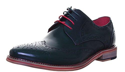 Justin Reece Dover, Chaussures de ville à lacets pour homme green