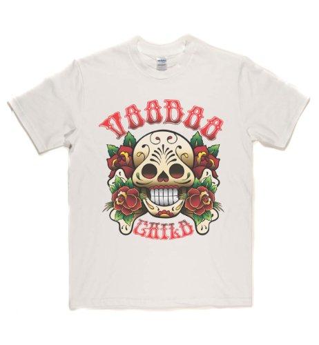Rough Justice Voodoo Child Classic Rock Musik Legends Retro-T-Shirt Weiß