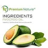 Avocadoöl Natürliches Trägeröl Avocado Öl - Premium Nature Carrier Oil Öl Für Körper Haare & Haut Feuchtigkeitspflege Hautpflege Aromatherapie Massage Öl Haaröl...