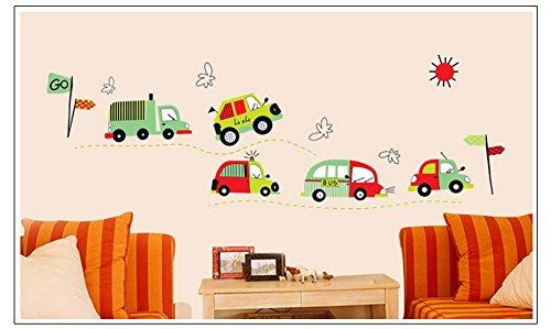 PeiTrade Auto Kinderzimmer Wandaufkleber Kunst Abziehbild Haus Zimmer Dekor Büro Wand Wand Tapete Kunst Aufkleber Aufkleber Papier Wandbild für Haus Schlafzimmer Alice Im Wunderland-schlafzimmer-set