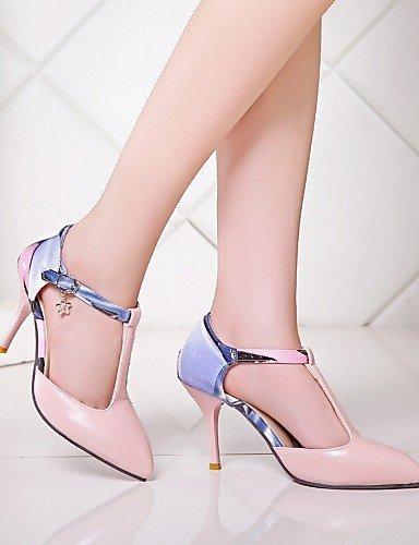 WSS 2016 Chaussures Femme-Bureau & Travail / Habillé / Décontracté-Bleu / Rose / Blanc / Beige-Talon Aiguille-Talons-Talons-Similicuir white-us6.5-7 / eu37 / uk4.5-5 / cn37