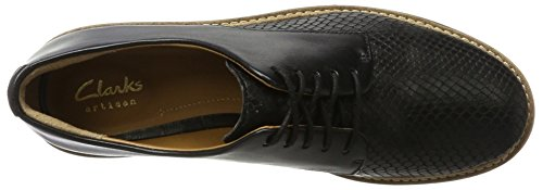 Clarks Glick Darby, Brogue Donna Nero (Black)