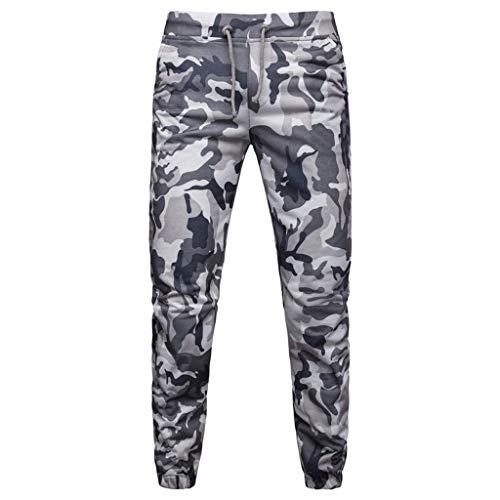 sunnymi  ® Herren Tarnen Hose Lässige Joggers Camouflage Pocket Drawstring Camo ()