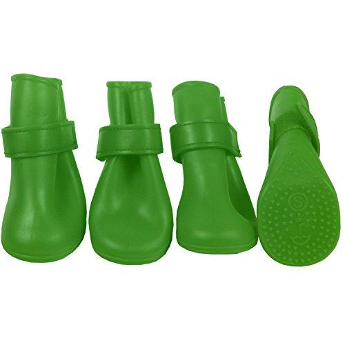 Jelly Gummistiefel G4GADGET Regen oder Glanz Wasserdicht Hund Stiefel mit extra fest greifen Sohle