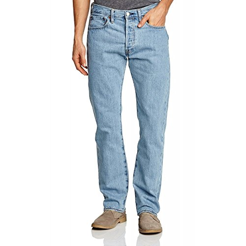 Levi's Herren Straight Leg Jeanshose 501 ORIGINAL STRAIGHT FIT, Blau (Light Broken-In 0113), W40/L32 (Levis Jungs)